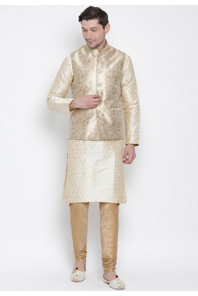 Designer Kurta Pajama Golden Colour.