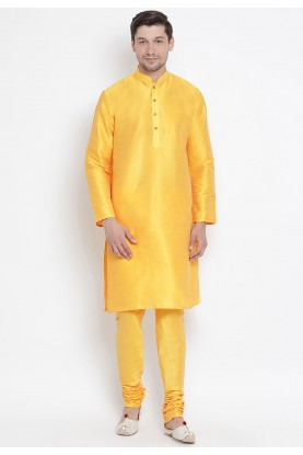 Yellow Colour Traditional Kurta Pajama.