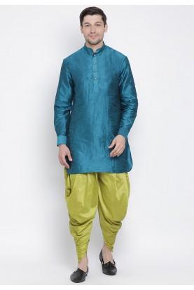 Cotton Silk Readymade Dhoti Kurta.