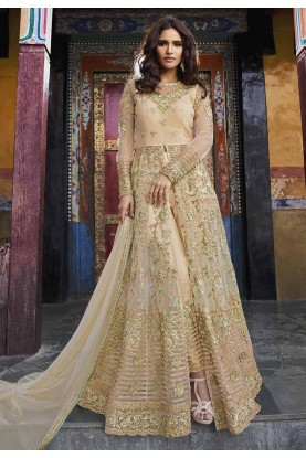Cream Color Designer Salwar Suit.