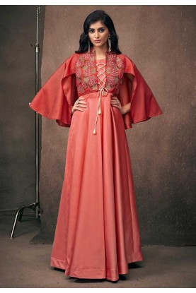 Red Color Designer Gown.