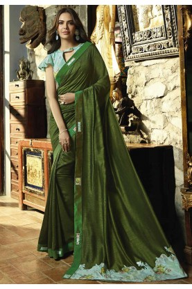 Green Color Silk Saree.