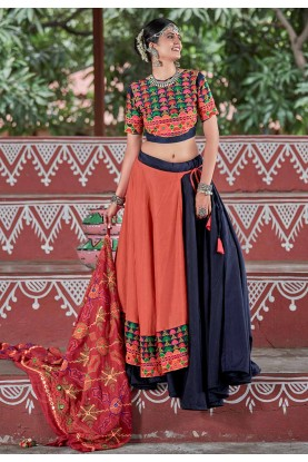 Red,Black Colour Lehenga Choli.