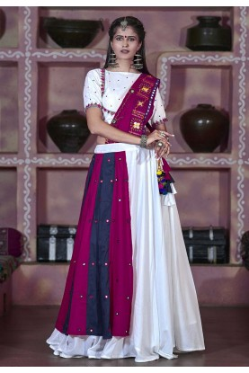 White Colour Designer Lehenga Choli.