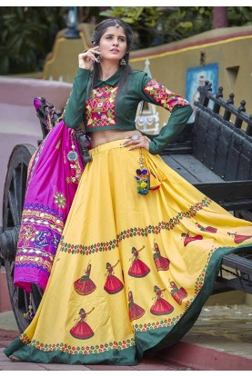 Designer Lehenga Choli in Yellow Colour.