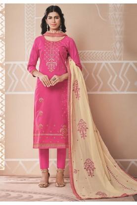 Pink Colour Designer Salwar Kameez.