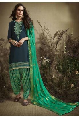 Blue Colour Salwar Suit.