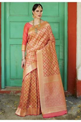 Multi Colour Silk Sari.