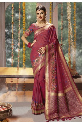 Banarasi Silk Indian Wedding Saree.