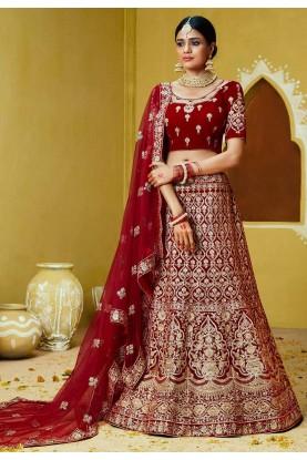 Velvet Fabric Designer Lehenga Choli.