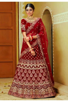 Indian Designer Lehenga Choli Red,Maroon Colour.