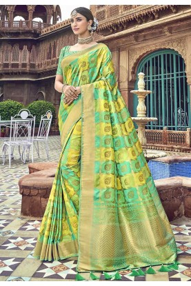 Multi Colourful Saree.