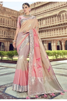 Multi Colour Printed Saree.