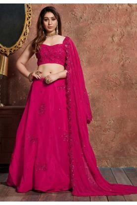 Indian Designer Lehenga Pink Colour.