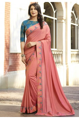 Pink Colour Silk Saree.