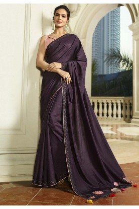 Bollywood Saree Purple Colour.