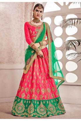 Pink Colour Designer Lehenga.