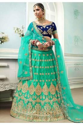 Green Colour Women's Lehenga Choli.