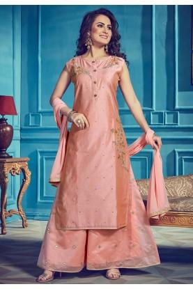Peach Colour Designer Salwar Kameez.