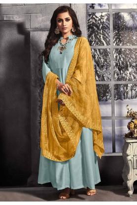 Blue Colour Cotton Salwar Suit.