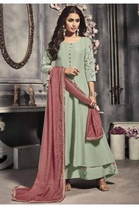 Designer Salwar Kameez Pista Colour.