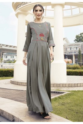 Grey Colour Readymade Kurti.