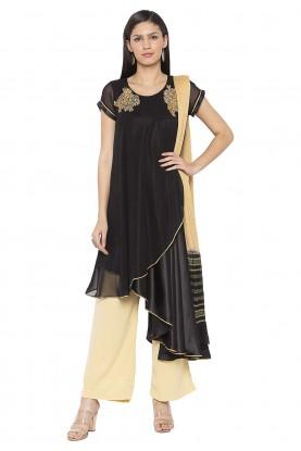 Black Colour Designer Salwar Kameez.