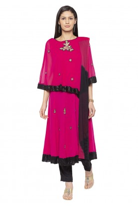 Designer Salwar Suit Pink Colour.