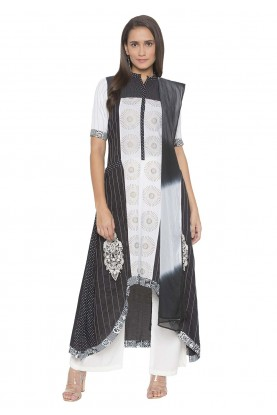 Black Colour Readymade Salwar Kameez.