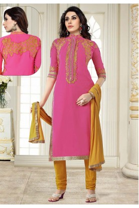 Designer Salwar Suit Pink Colour.