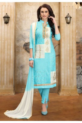 Turquoise Colour Women Salwar Suit.