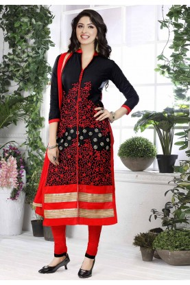 Black Colour Party Wear Salwar Suit.