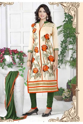 Cotton Salwar Suit Beige Colour.