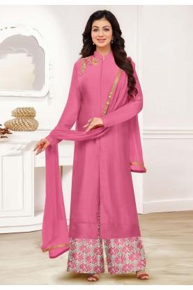 Pink Colour Designer Palazzo Suit.