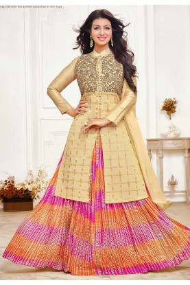Golden Colour Bollywood Salwar Suit.