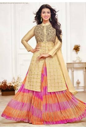 Golden Colour Bollywood Salwar Suit.