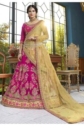Designer Bridal Lehenga Choli Pink Colour.