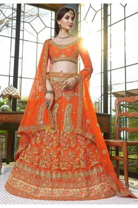 Orange Colour Women's Lehenga Choli.