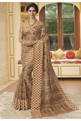 Brown Colour Women's Saree.