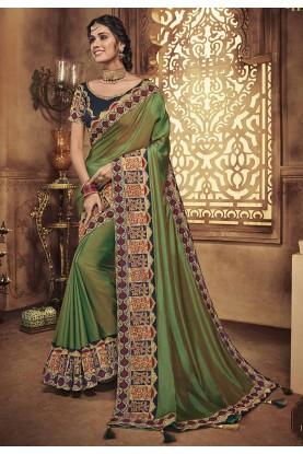 Green Colour Women Saree.