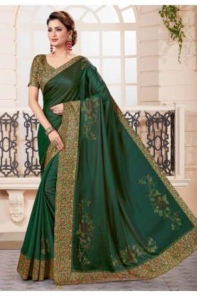Green Colour Silk Saree.