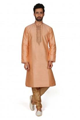 Traditional Kurta Pajama Orange Colour.