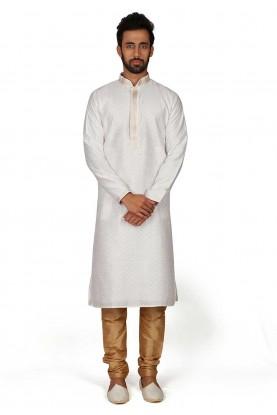 White Colour Readymade Kurta Pajama.