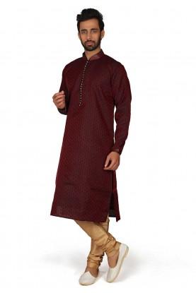 Maroon Colour Designer Kurta Pajama.