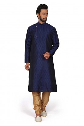 Blue Colour Men's Kurta Pajama.