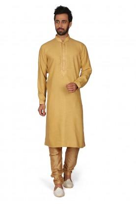 Yellow Colour Indian Designer Kurta Pajama.