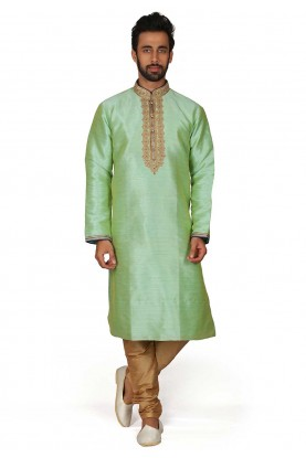 Traditional Kurta Pajama Green Colour.