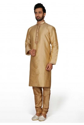 Golden Colour Indian Kurta Pajama.