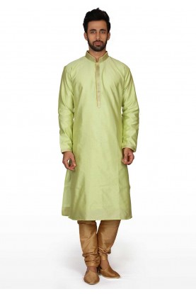 Green Colour Readymade Kurta Pajama.