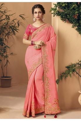 Pink Colour Women Saree.